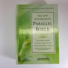 Hendrickson Parallel Bible NKJV KJV NLT NIV Hardcover 2nd EditionW Case