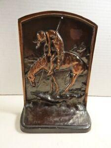 VTG End of the Trail Scene Cast Copper Bookend McClelland Casket Hardware Co.