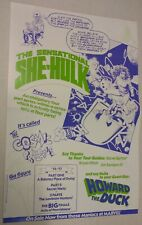 SHE HULK , HOWARD THE DUCK PROMOTIONAL POSTER , 1990, 11 X 17 , RARE , BOLLAND ,