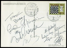 Signed  échecs chess ajedrez scacchi schach fischer spassky 1972 ICELAND