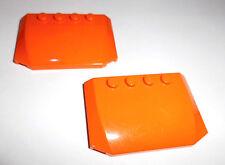 Lego (52031) 2 Motorhauben/Dächer 4x6x2/3, in orange aus 7686 7642 4434 60036