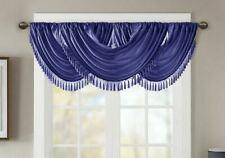 "Faux Silk Luxury Waterfall Decorative Trim Window Valance 48""x 37"" Each Valance"