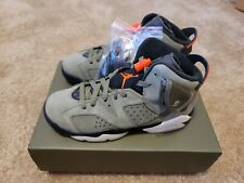 "JORDAN RETRO 6 GS ""TRAVIS SCOTT"" cactus jack sz 5.5Y 100% Authentic new with box"