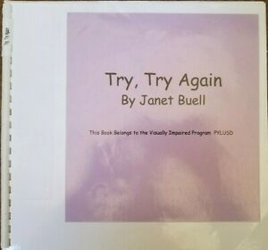 Try, Try Again by Janet Buell - in Braille for the Blind Children