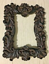 Early Victorian Baroque Black Forest Wood Carved Wooden Table Picture Frame