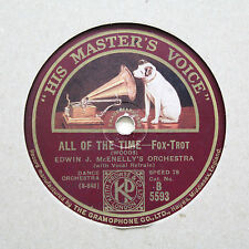 """EDWIN J. McENELLY'S ORCHESTRA """"All Of The Time / Marie"""" HMV B-5593 [78]"""