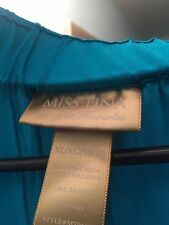 miss tina by tina knowles Size XL Women's 16-18 Teal Soft Lightweight Skirt