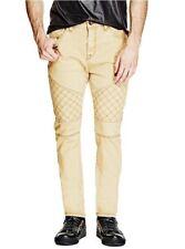 G By Guess Men's Pastel Moto Modern Skinny Stretch Jeans Khaki Wash Size 38X32