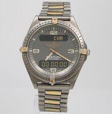 Breitling Aerospace F56059 40mm Titanium Ani-Digi Mens Swiss Quartz Watch