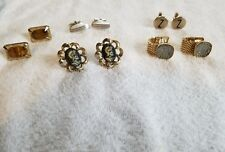 A lot of 5 different types styles of Mens cufflinks