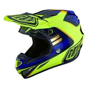 2021 Troy Lee Designs SE4 Composite Helmet Flash Yellow/Blue adults