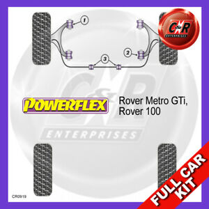 Fits Rover Metro GTi, Fits Rover 100  Powerflex Complete Bush Kit