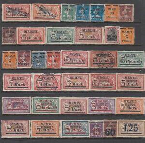 Memel - 36no. different stamps 1920-23 (CV $222)