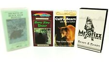 Lot of 4 Bear Hunting Videos on Vhs Also Boar Hunting - Vintage Hunting Tapes