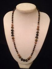 black and brown glass bead necklace