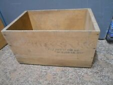 vintage wood wooden storage crate box
