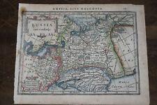 1635 MAP of RUSSIA SIVE MOSCOVIA - Russian Ukraine Caspian Sea KAZAN MOSCOW