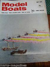 MODEL BOATS 1974 JULY MS EAGLE USS ARKANSAS DEEP SEA TOWAGE THAMES SAILING BARGE