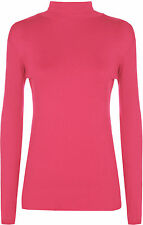 Long Sleeve Polo Neck Casual Tops & Shirts for Women