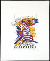 Kombinationsdruck (1982) von Otto Herbert HAJEK (1927-2005 D), handsigniert