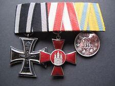 Orden SPANGE croce di ferro Amburgo Hanseaten CROCE E MEDAGLIA SASSONIA