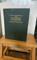 FUNK and WAGNALL Huge c1947 The New Standard Dictionary Of The English Language