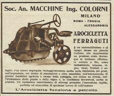 W3304 Motocoltivatore AROCICLETTA FERRAGUTI - Pubblicità 1936 - Advertising