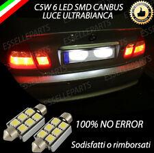 COPPIA LUCI TARGA 6 LED PER BMW SERIE 3 E46 CANBUS 100% NO ERRORE