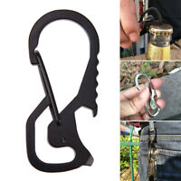 Multifunction Durable Keyring Key Holder Keychain Bottle Opener Outdoor Tool Hea