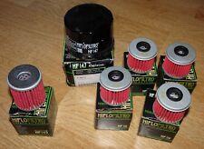 7x Various HIFLOFILTRO oil fiilters (Honda/Yamaha)