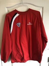 Diadora Polyester Soccer Jersey Fleece Shirt Long Sleeve Tampa Bay Sun Bowl Red