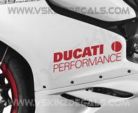 2x Ducati Performance Logo Premium Cast Fairing Decals Stickers Supersport S 899