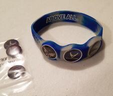 Wrist Skins Golf Ball Marker Bracelet,US Air Force, Magnetic, Size - XL & M