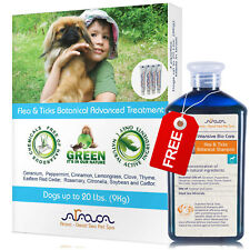 Natural Flea and Tick Prevention Control for Small Dogs 0-20lbs & Shampoo, Arava