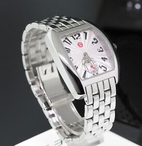 Michele Mini Urban Stainless Steel White Dial 29mm Ladies Watch MW02A00A0001