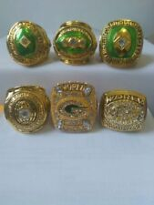 1961 1965 1966 1967 1996 2010 Green Bay Packers championship ring 6 together !