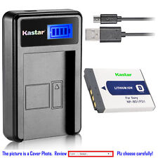 Kastar Battery LCD Charger for Sony NP-BD1 NP-FD1 D Type Battery, BC-CSD Charger