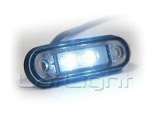 8x LED Front Marker Lights 12V 24V Truck Trailer White Position Lamp 12 24 Volt