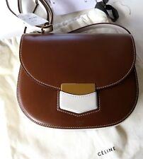 NWT Authentic $2100 Celine Trotteur Shoulder Bag in Bicolour Calfskin