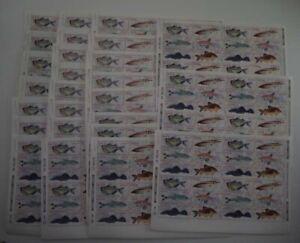 1988 Brasilien; 100mal 6er Block Fische, **/MNH, MiNr. 2276/81, ME 320,-