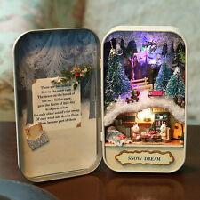 DIY Dollhouse Miniature 3D Doll House Kit Box Theatre Wooden Puzzle Snow Dream