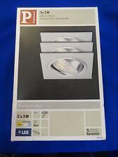 >> Paulmann 92532 Premium EBL Set Aria eckig schwb. LED 3x3W 350 Lampe >>