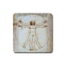 The Vitruvian Man by Da Vinci drink coasters 4 pack D23