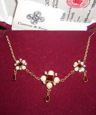RARE Camrose & Kross Jacqueline Jackie Kennedy Renaissance Style Drop Necklace