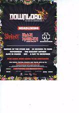 SLIPKNOT/IRON MAIDEN/RAMMSTEIN - DOWNLOAD FESTIVALoriginal press clipping21x28