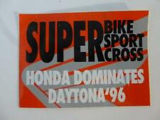 Daytona Super Bike Sticker Decal Team Honda Racing Motorcycle 1996 Super Sport