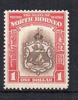 North Borneo 1939 $1 Badge of the Colony MH