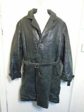 VINTAGE 60's MONGOLIAN DISTRESSED LEATHER DUSTER TRENCH COAT JACKET SIZE XXL