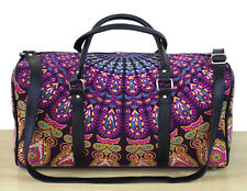Indian Handmade Cotton Travel Bags Sports Gym Bag Unisex Mandala Handbag Throw