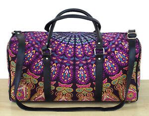 Indian Handmade Cotton Duffle Travel Bags Sports Gym Bag Unisex Mandala Handbag